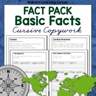 Basics Fact Pack Cursive Copywork