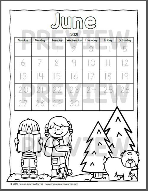 Color Your Own Calendar