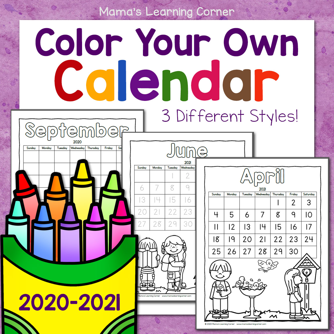 Color Your Own Calendar