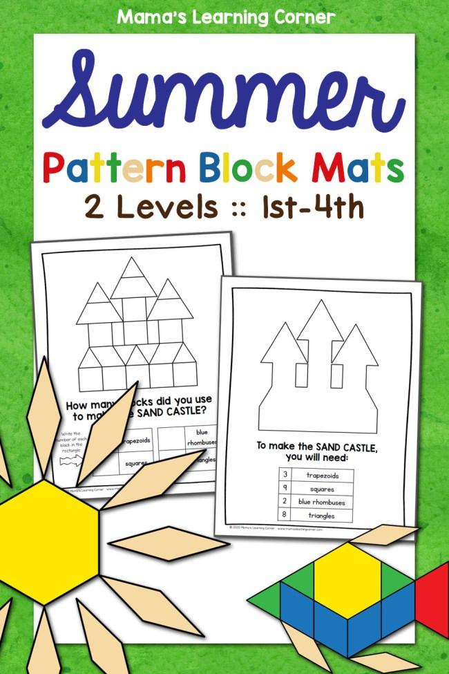 Summer Pattern Block Mats 2 Levels