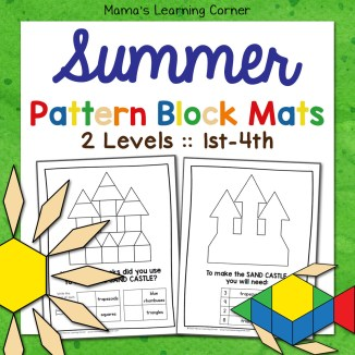 Summer Pattern Block Mats