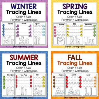 Tracing Line Worksheets Bundle