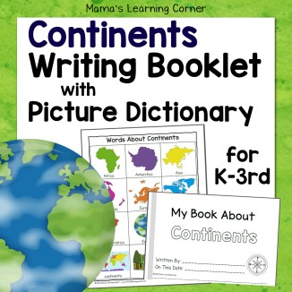 Continents Writing Booklet 8x8