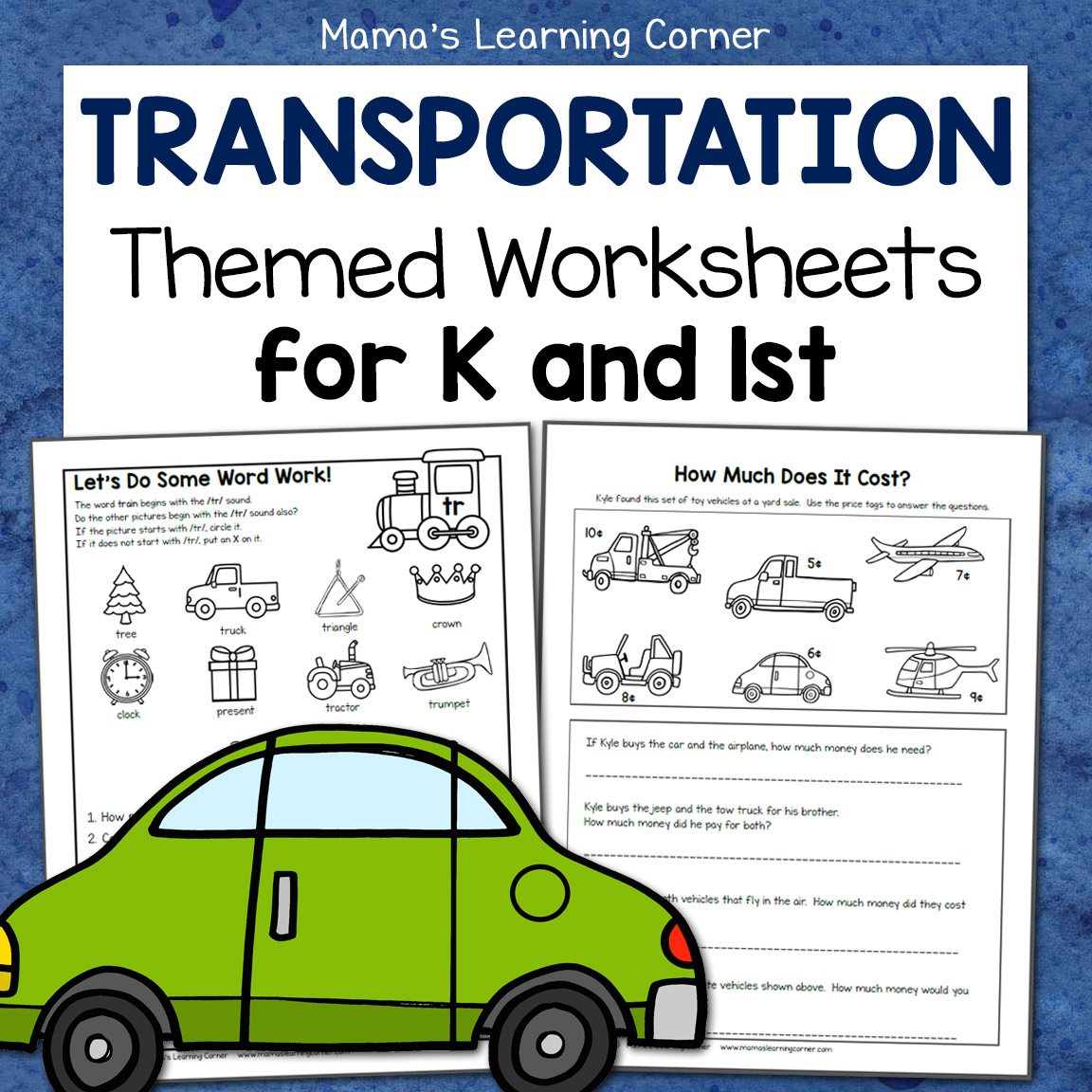Transportation Worksheets For Kindergarten And First Grade