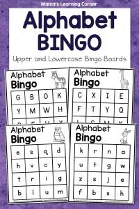Alphabet Bingo Learning Letters