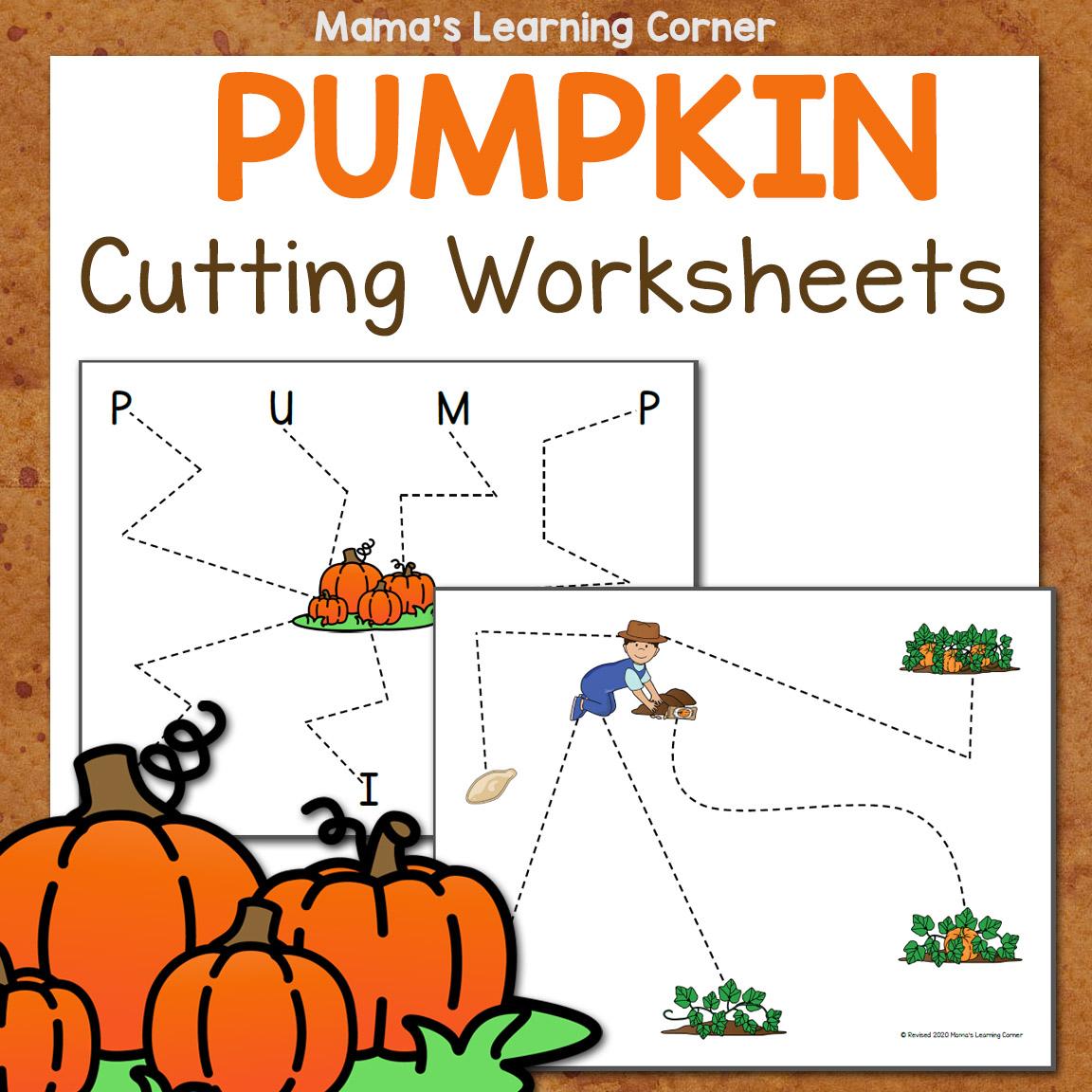 Pumpkin Cutting Worksheets