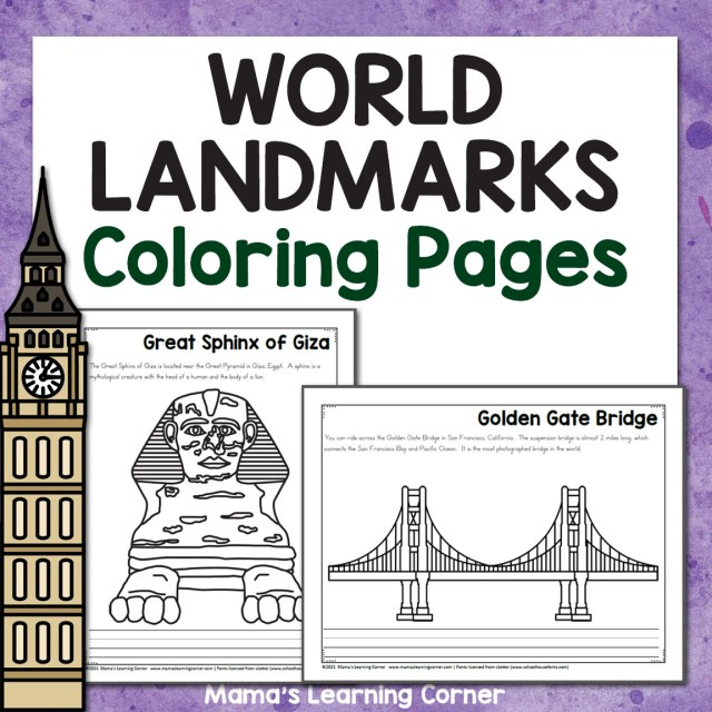 World Landmark Coloring Pages