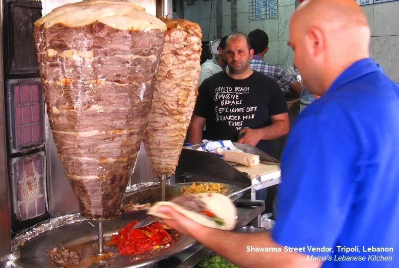 Shawarma Vendedor callejero, Trípoli, Líbano