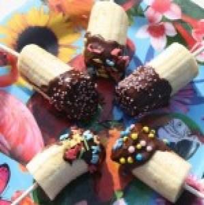 Kiwi chocolade lollies met spikkels
