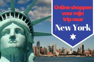 Online shoppen voor mijn trip naar New York