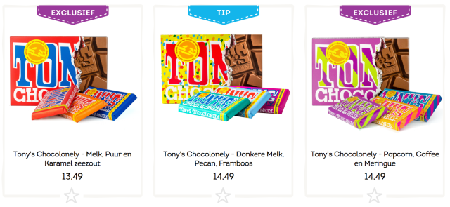 Greetz Tony's Chocoloney Chocolade