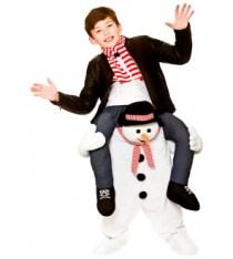 sneeuwman step-in kostuum - feestkleding.nl