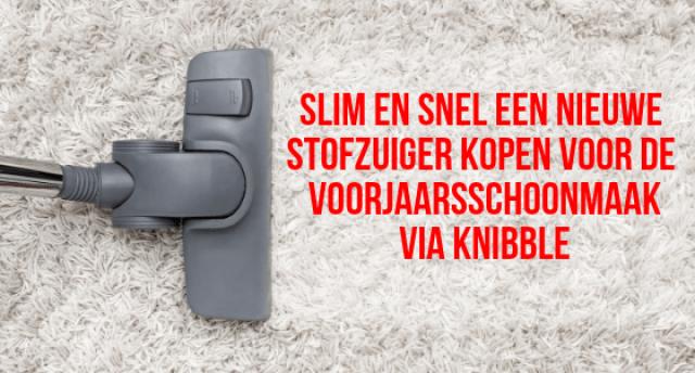 Snel en slim en nieuwe stofzuiger kopen voor de voorjaarsschoonmaak via Knibble Foto Shutterstock Door Proxima Studio