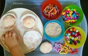 cupcakes playdough