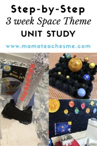 Space Theme Unit Study