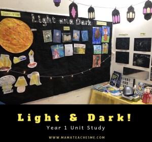 science, light and dark, homeschooling, shadows, dark