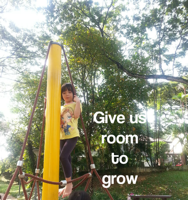 give our children room to grow
