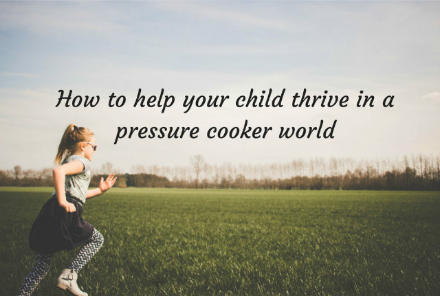 How to help your child thrive in a pressure cooker world