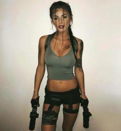combat girl Halloween kostuum