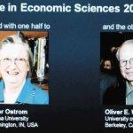 Mujer gana premio Nobel en Economia