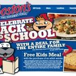 Gratis Menú de Niños en Boston Market