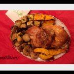 Pollo Asado y vegetales de estación