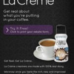 Gratis: La Creme, crema para café
