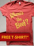 Wendy's: GRATIS camiseta Where's the beef? para las primeras 25,000 personas