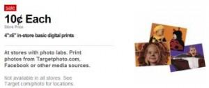 GRATIS 20 fotos impresas en Target