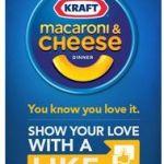 Gratis: Cupón de Kraft Macaroni and Cheese todos los días