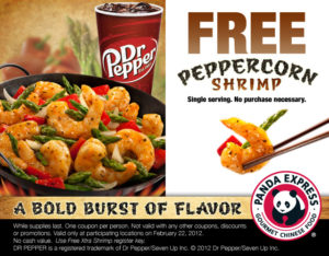 free coupon, panda express