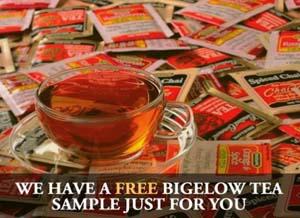 Gratis muestra de Te Bigelow *para los primeros 14,000 en pedirlas*