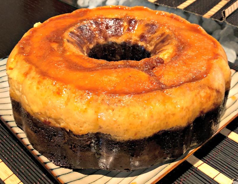 chocoflan, pastel imposible, chocolate, torta, flan, receta