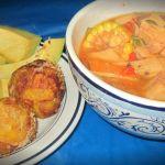 Receta: Sopa de Mariscos con Mofongo