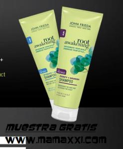 Gratis paquete de muestras más cupones de John Frieda US (shampoo y acondicionador)