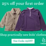 25% de descuento en thredUP (ropa para niños)