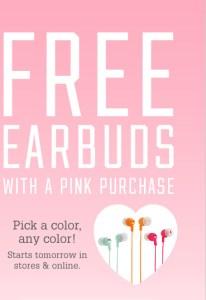 """Audífonos GRATIS en Victoria's Secret con tu compra """"pink"""""""