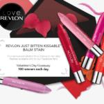 Gratis lápiz de labios Revlon Just Bitten Kissable ¡100 por día!
