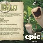 EPIC experimento de inséctos