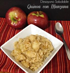 Desayuno saludable de quinoa y manzana