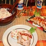 Lomo de Cerdo Mechado con Ensalada Rusa #comidaKraft