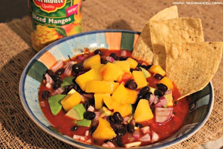 salsa de mango y habichuelas negras