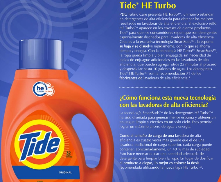 tide fact sheet