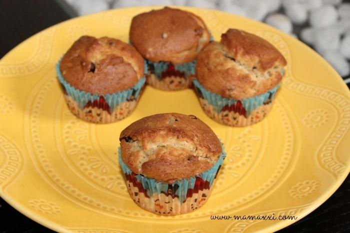 muffins con trozos de chocolate