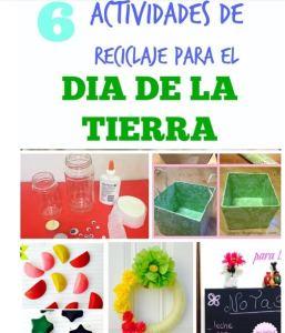 6 Actividades de reciclaje para el Dia de la Tierra