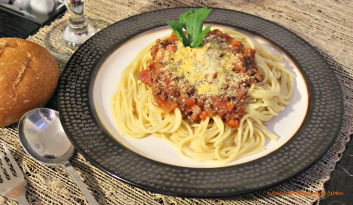 espaguetis con salsa