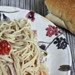 Espaguetis en Salsa Blanca con Jamón y Tomates #BarillaLovesMoms
