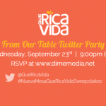 Ven a la Fiesta en Twitter #NuevaMesaQueRicaVidaSweepstakes