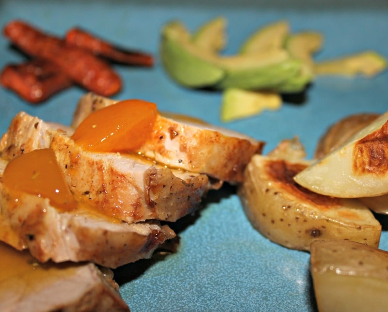Carne con salsa agridulce de frutos tropicales