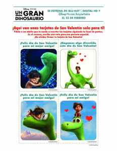 Tarjetas Imprimibles de Good Dino para San Valentín en Español